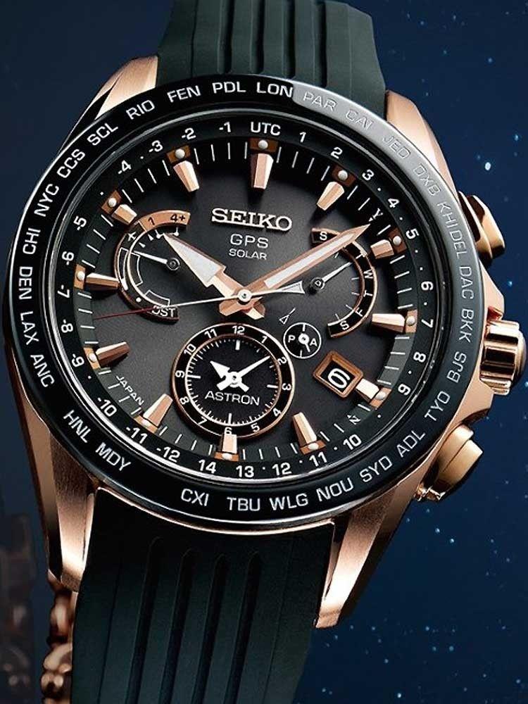 9 Reducere Seiko Sse055j1 Astron Gps Solar Dual Time