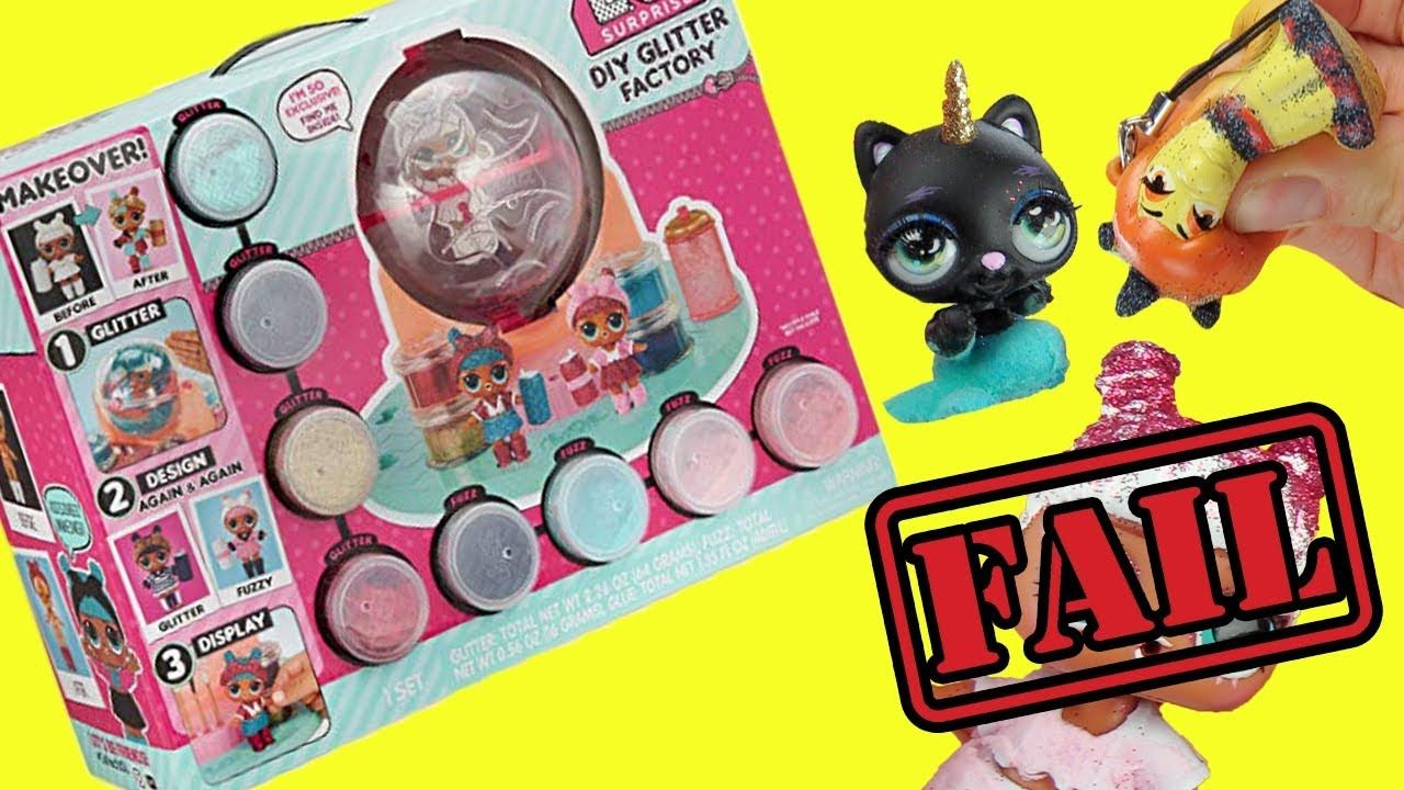 LOL Surprise DIY Glitter Factory Exclusive Doll Makeover Fuzzy or Glitter NEW