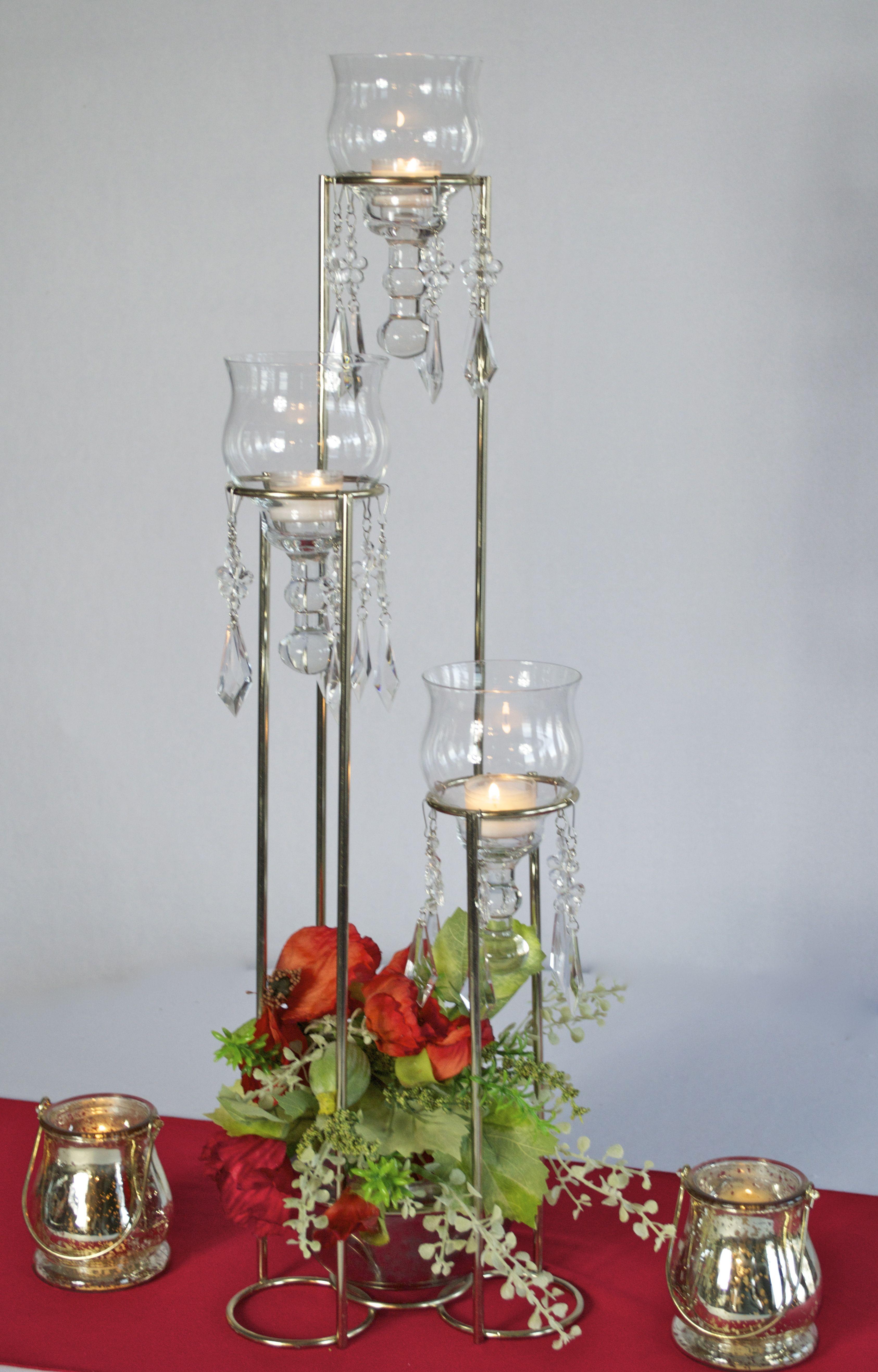 Candelabra Centerpiece with Floral Basket; LADY MADONNA\'S, Yankton ...