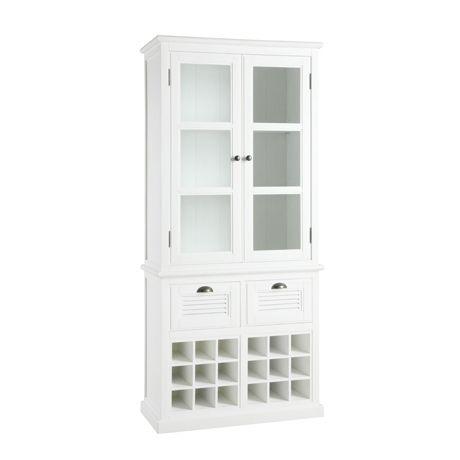 Vermont Display Cabinet With Wine Storage White