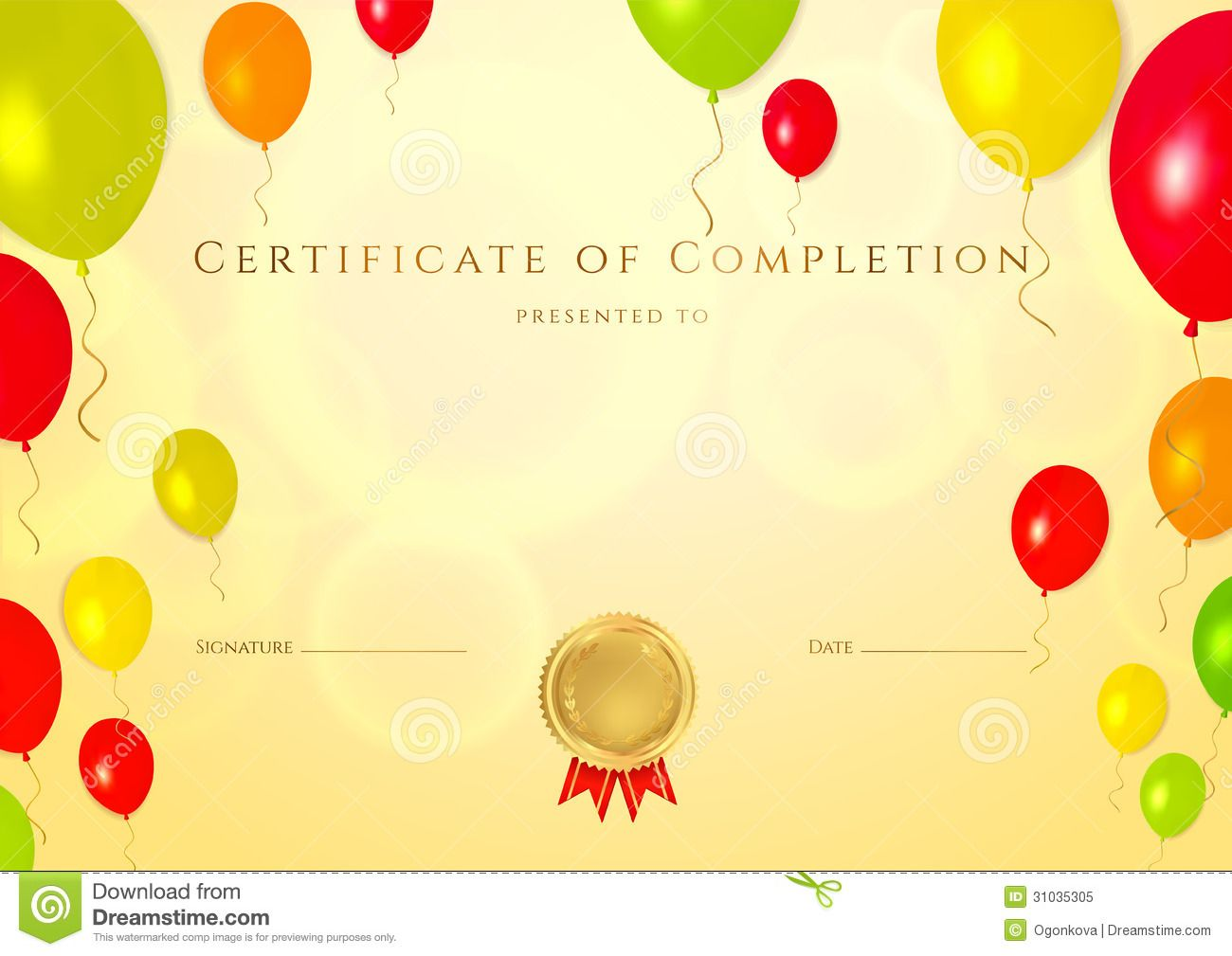 Certificate Template For Kids certificate template for kids free – Certificate Template for Kids