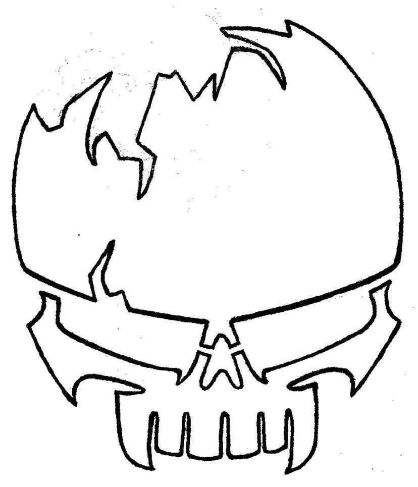 Stencil  Skull 2 By *josh308 On Deviantart