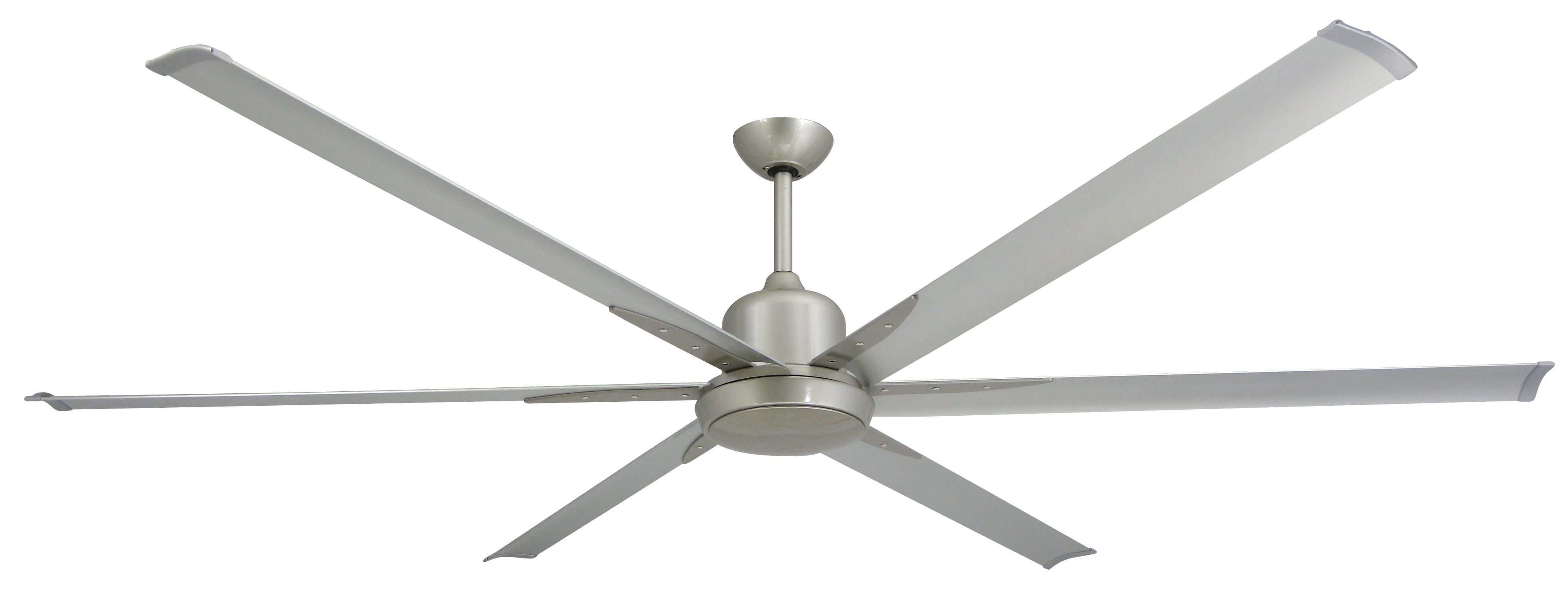 TroposAir Titan Brushed Nickel Industrial Ceiling Fan with 84
