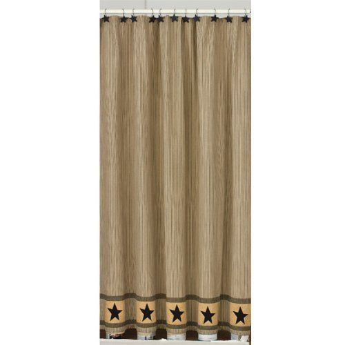 72 Primitive Star Fabric Shower Curtain By Park Designs Rustic