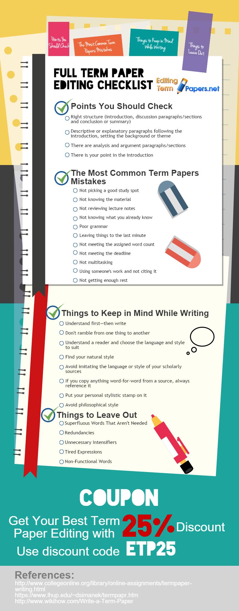 Full Term Paper Editing Checklist