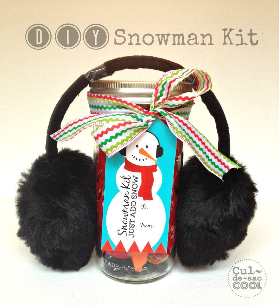 snowman kit with free printable tags cover 1.b