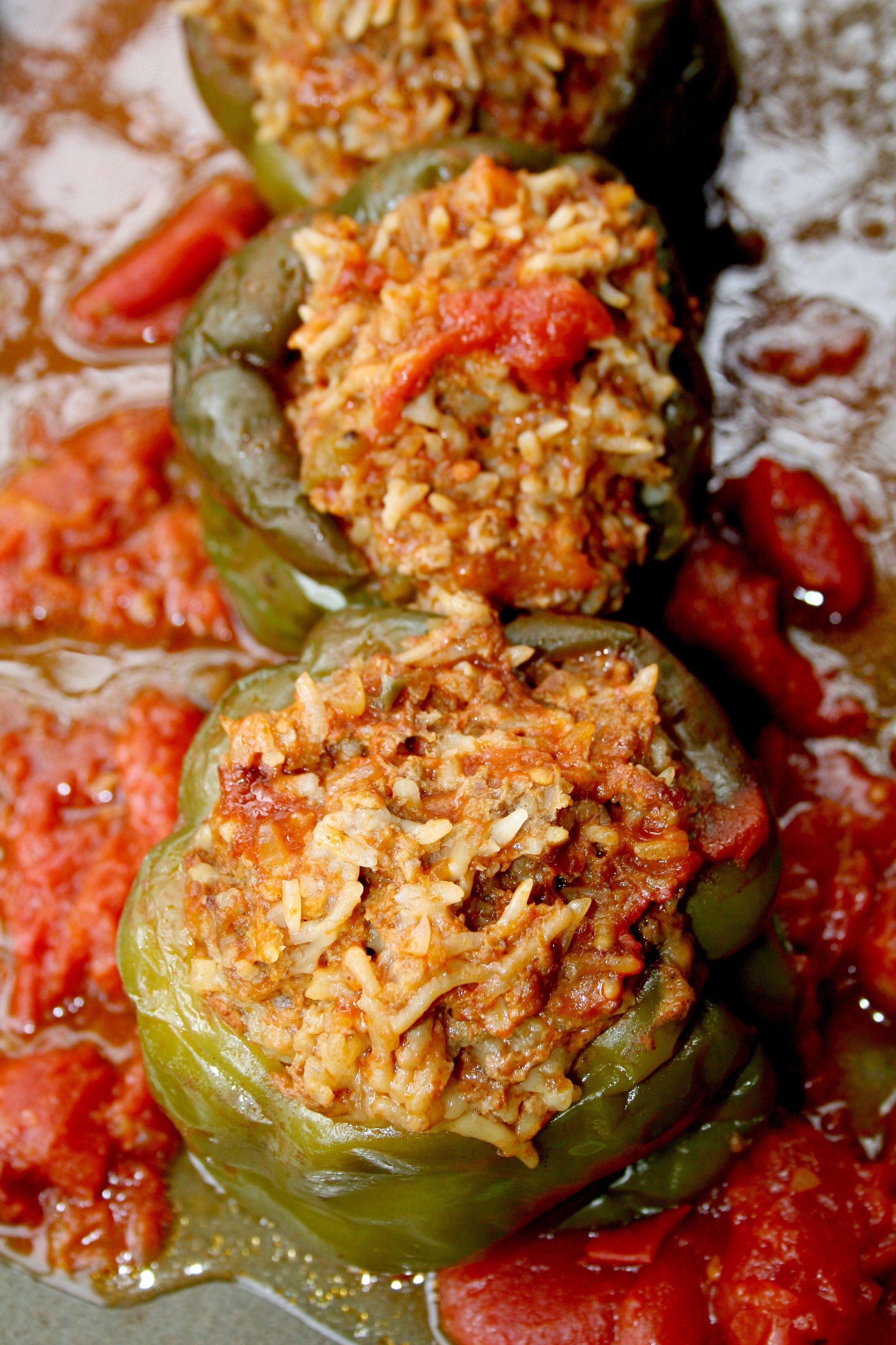 Crockpot Stuffed Peppers Comida Coccion Lenta Dietas