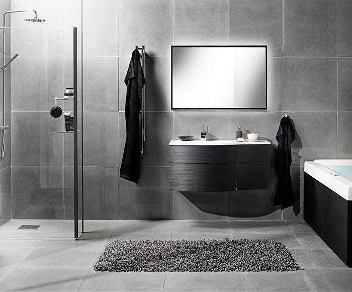 Big tiles in a small bathroom - Badrum Kakel Gr 229 Tt Google Search Bathroom Pinterest
