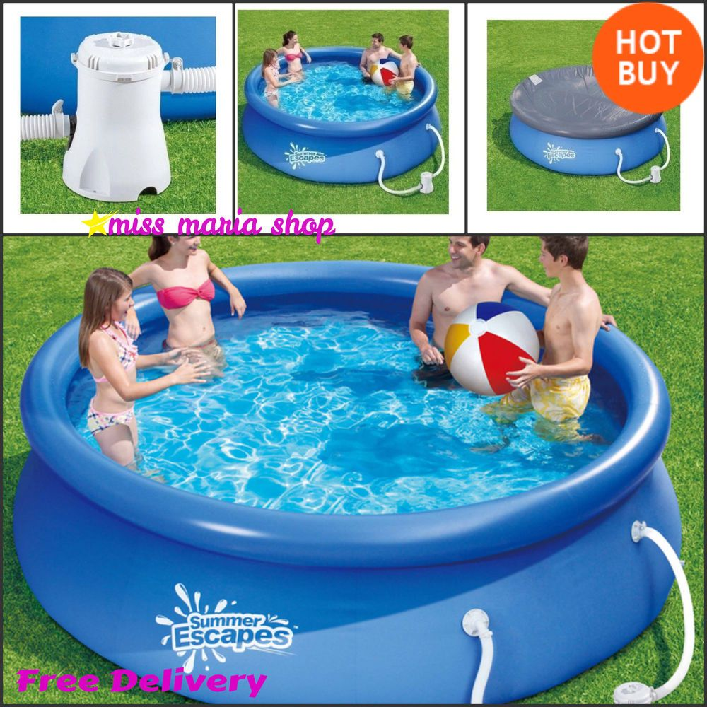 Swimming Pool Above Ground Inflatable Pools Liner Covers Pump