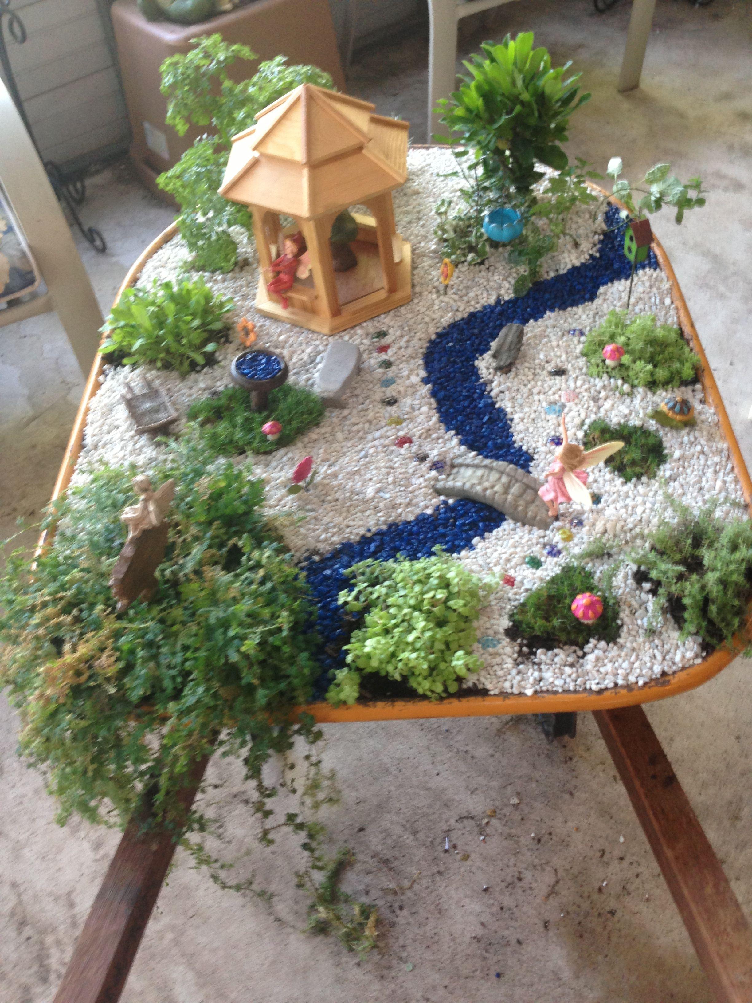 Wheelbarrow fairy garden | Fairy Garden | Pinterest | Fairy, Gardens ...
