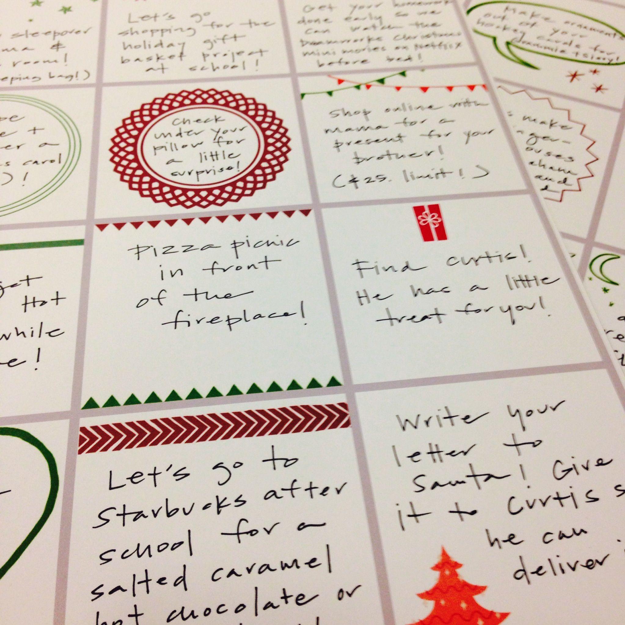 Advent Calendar Refill Ideas : Advent calendar filler ideas and printables someday