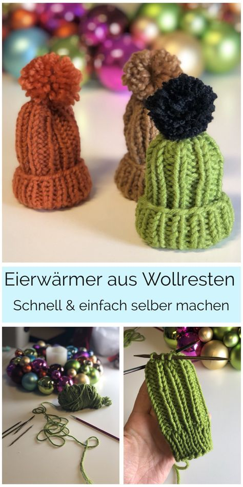 Eierwärmer DIY aus Wollresten #ponchoscrochet