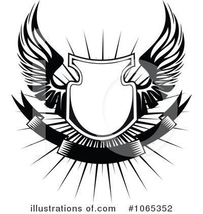 Vector Wings Clipart Lencana Seni Gambar Digital