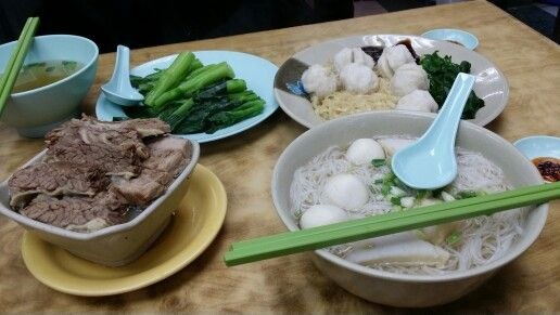 Fish ball and beef brisket