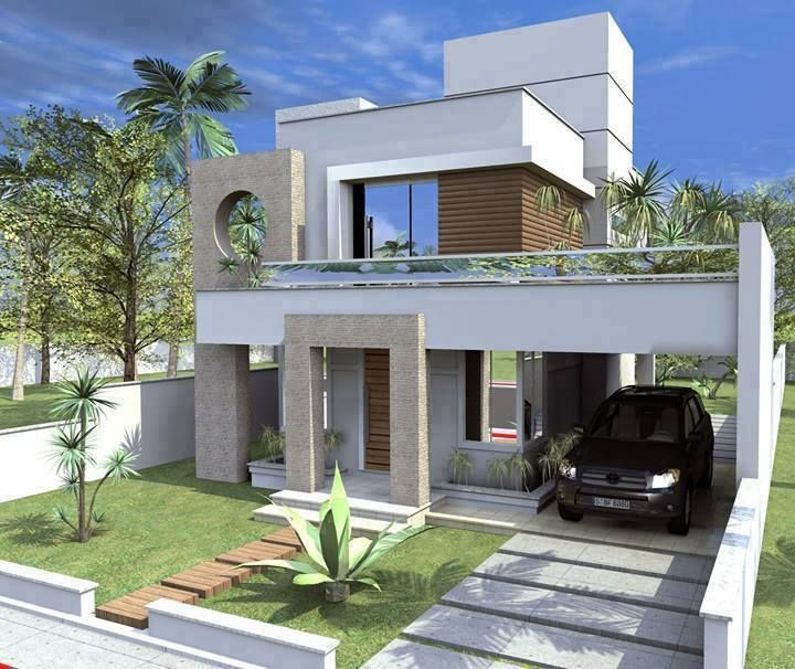 Low budget single family modern residential house for Modern residential house