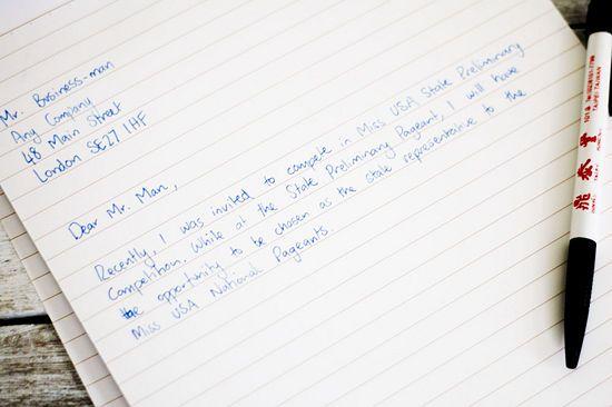 Write A Letter Requesting Sponsorship Faces Of Chiari