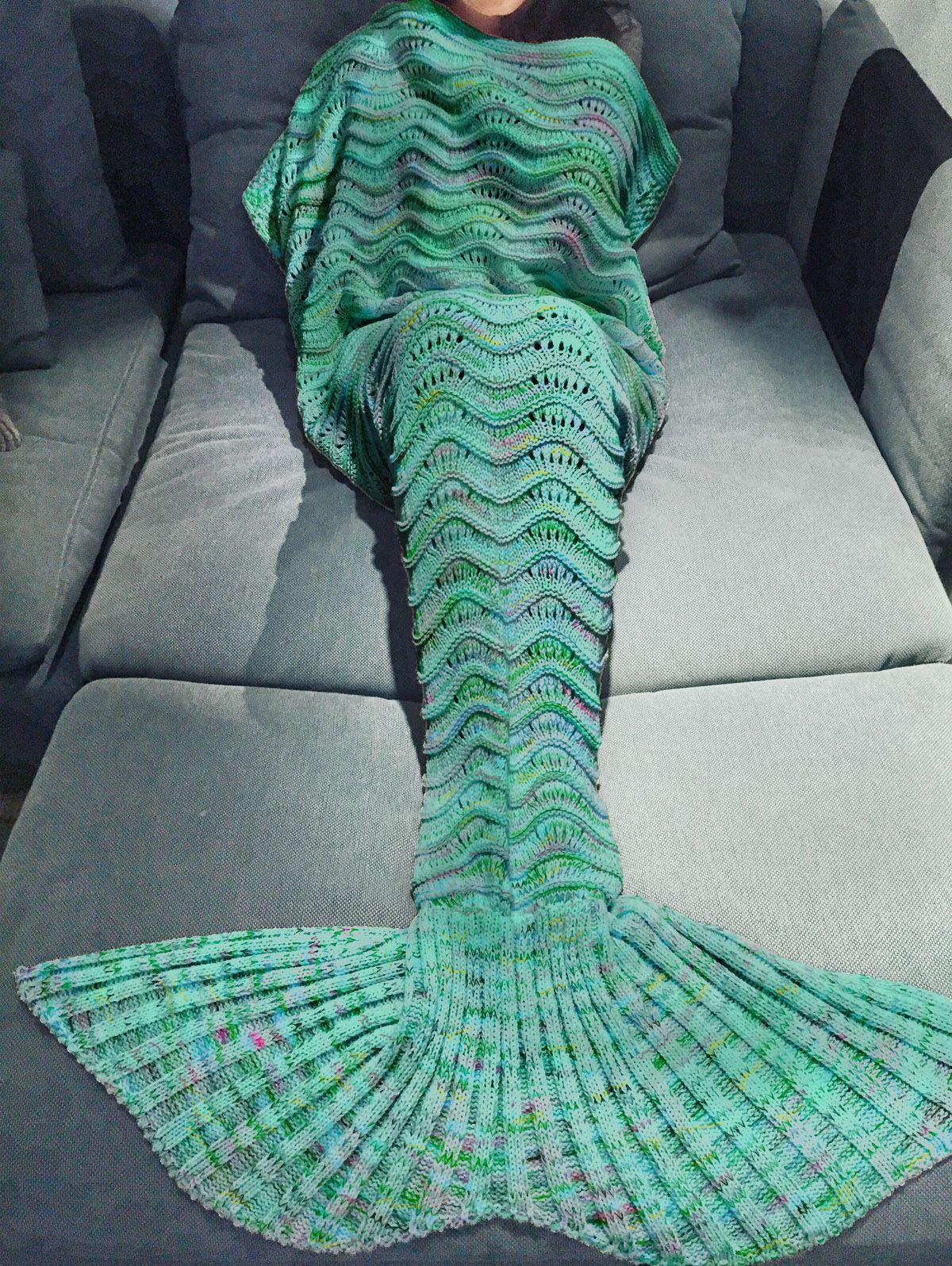 Handmade Knitted Mermaid Tail Design Blanket | Quiero, Sirenitas y ...