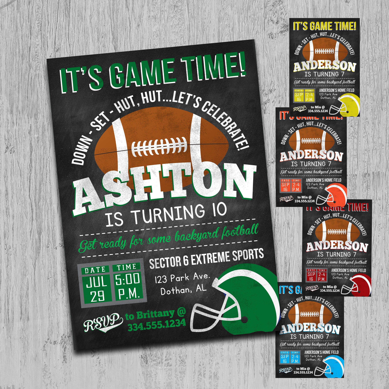 Football Birthday Invitation Football Birthday Sports | Alexs ...