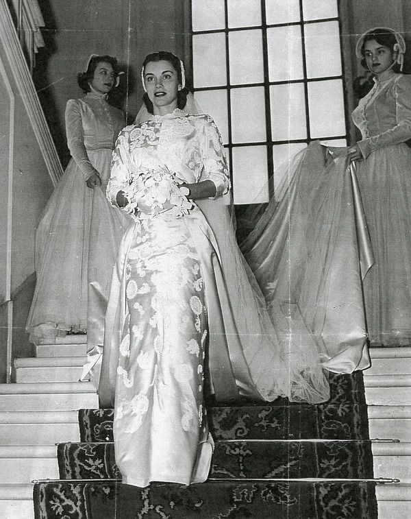 Linda Christian Tyrone Power Wedding 1949 Wedding Gowns