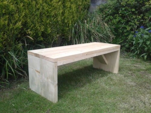 Wondrous Rustic Hand Made Wooden Pine Garden Bench Furniture Gmtry Best Dining Table And Chair Ideas Images Gmtryco