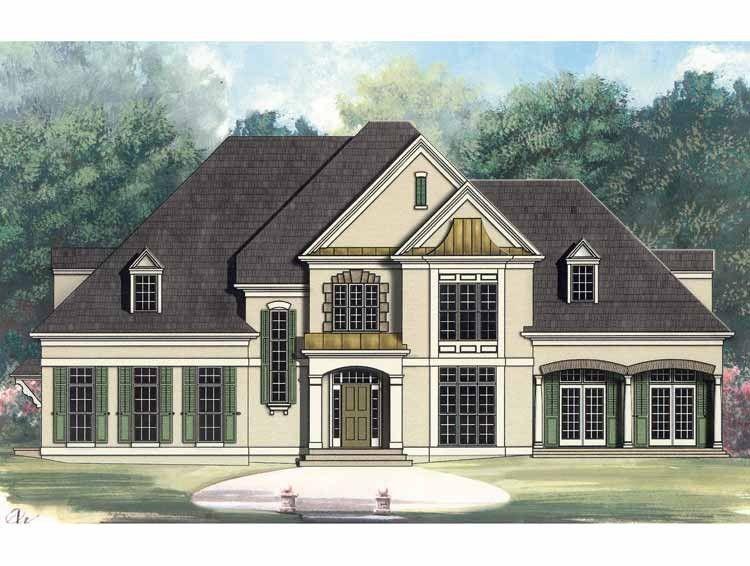 European Style House Plan 4 Beds 4 Baths 3720 Sq Ft Plan 119 215 French Country House Plans French Country House House Plans