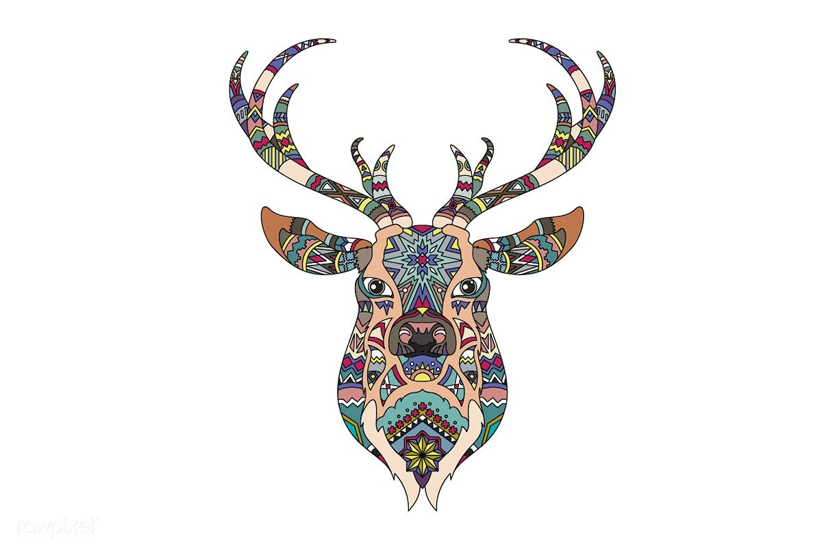 Christmas reindeer vector free image by ช้าง
