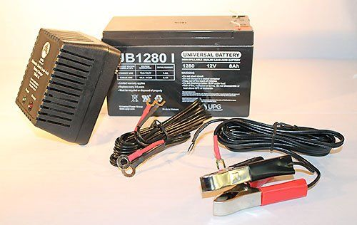 Mighty Max 12V 8AH SLA Replaces Wheelchair Battery 12V 1Amp Charger