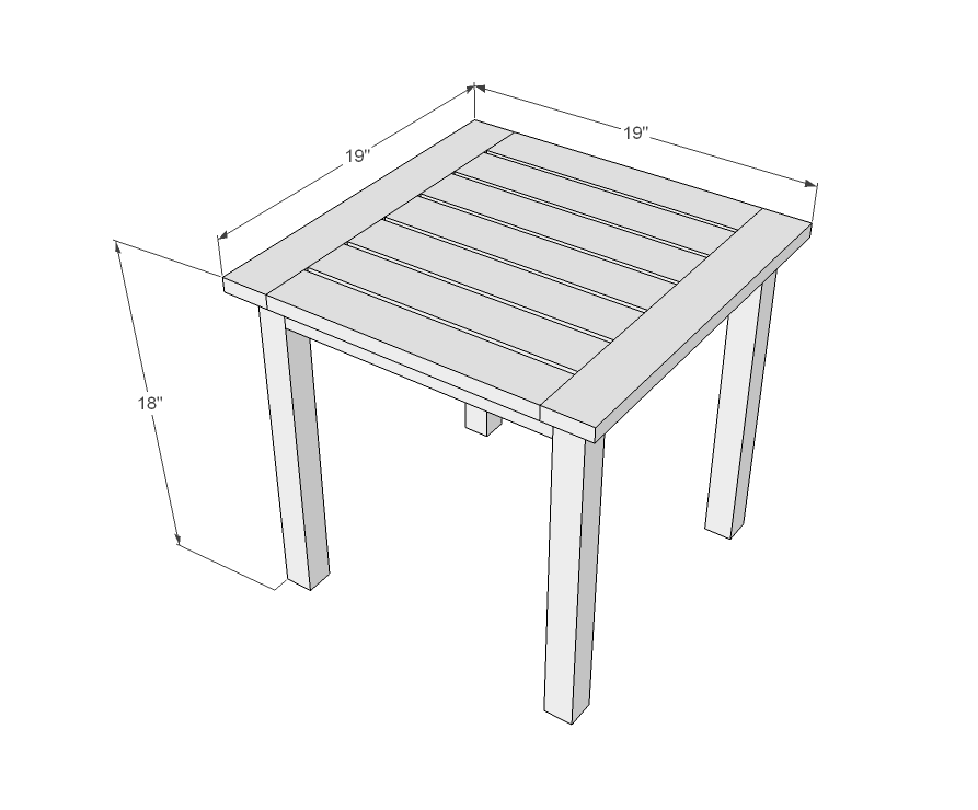 Simple White Outdoor End Table Outdoor End Tables Diy End