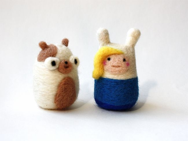 Adventure Time Fionna and Cake Felted