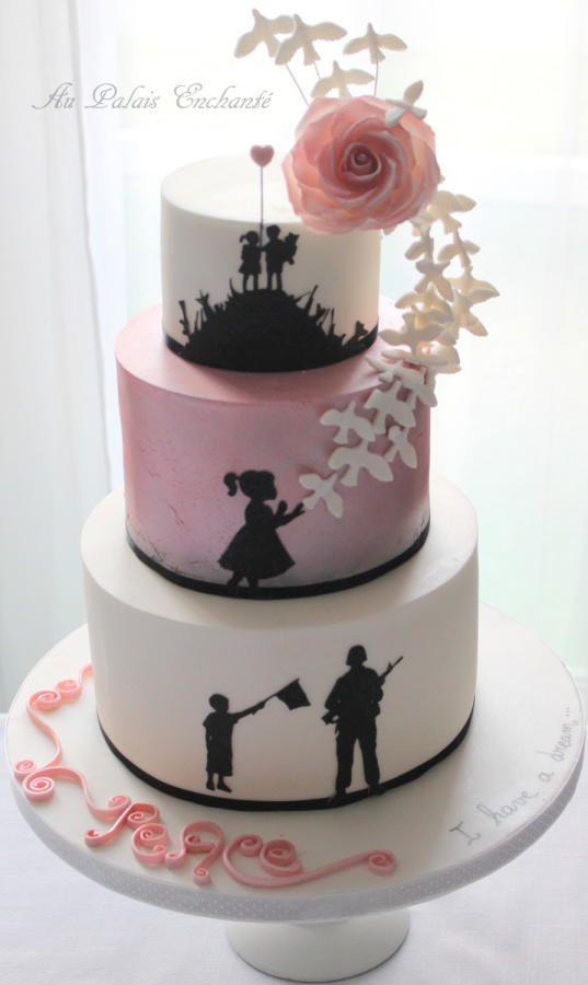 cake against violence - Cake by aupalaisenchante