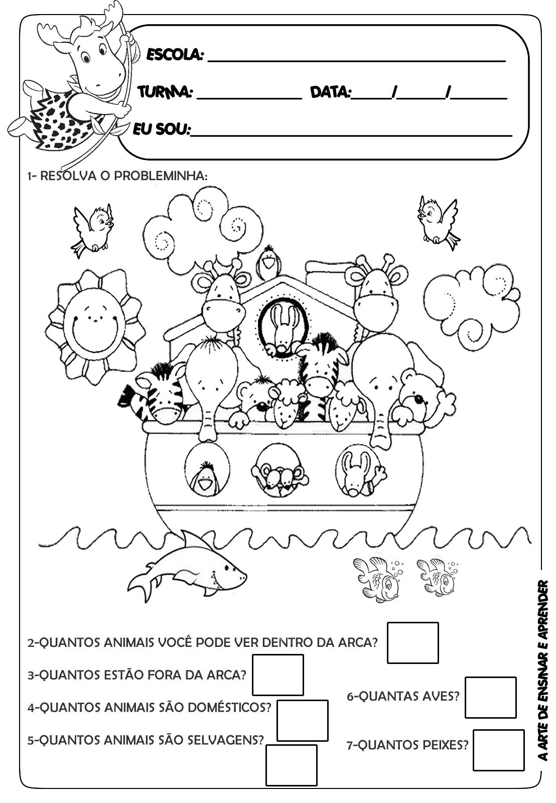 Exercícios de português 1 ano - Atividades Pedagógicas