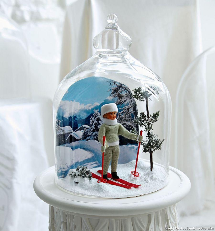 Que Mettre Sous Une Cloche En Verre déco d'hiver sous cloche | handmade christmas, handmade