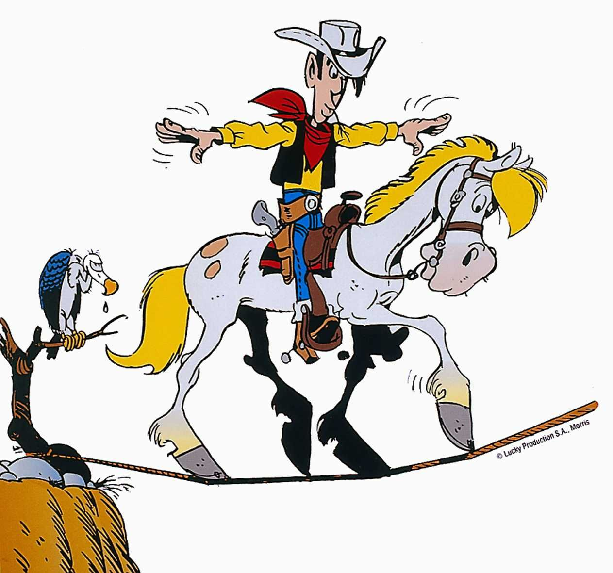 Lucky Luke  Jolly Jumper  Lucky luke  Pinterest  Zeichnungen