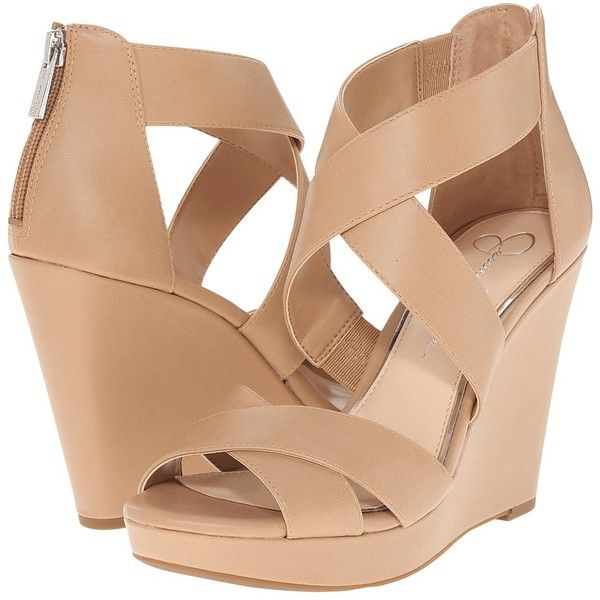 Jessica Simpson Jadyn Women's Wedge Shoes found on Polyvore featuring shoes,  sandals, fleece-