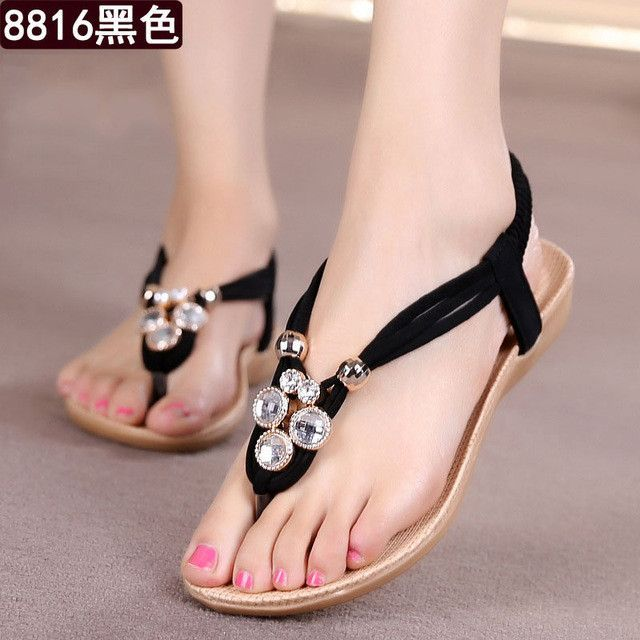 5bdf6fa18e56 Women Shoes Women Sandals Bohemia Style Ankle-strap Flip Flops Summer Flat  Shoes Woman Ladies Shoes Sandalias Mujer