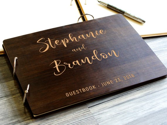 Custom Unique Personalized Wood Wedding Guest Book Sign Unique Rustic Wedding Guest Book Sign Rustic Real Wood Wedding Guest Book Sign