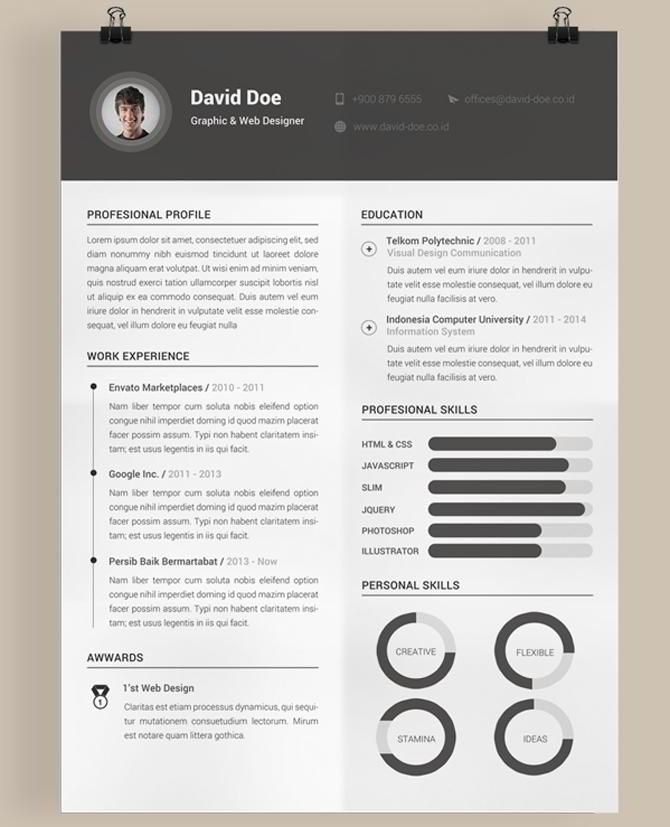 Best Free Resume Templates 40 Best Free Resume Templates 2017 Psd Ai Doc  Free Printable