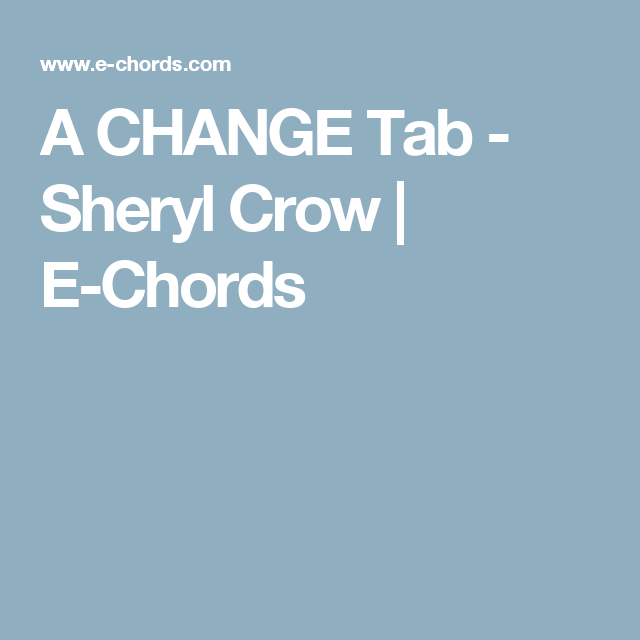 Guitar Chords Picture Sheryl Crow