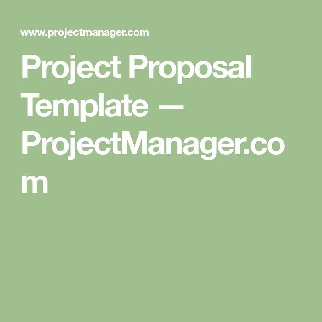 Project Proposal Template  ProjectmanagerCom  Academic