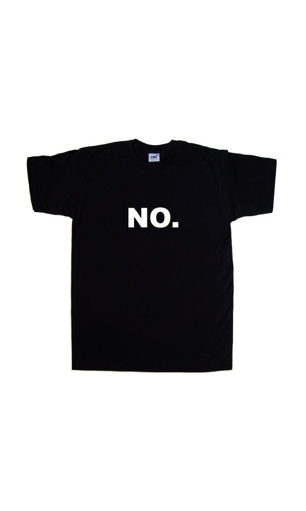 9cce35479d 12$ - NO. Funny Black T-Shirt (White print)-Small from ...