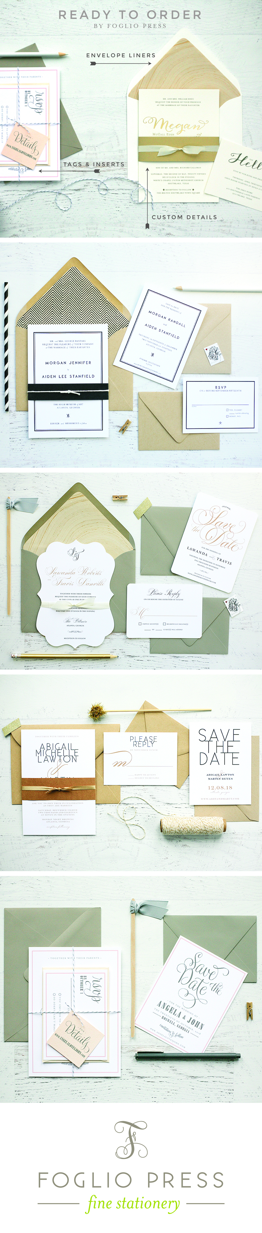 27 simple and chic new Wedding Invitations, ready to shop right now ...