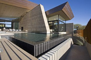 Desert Wing water feature, pool contemporary exterior | house stuff ...