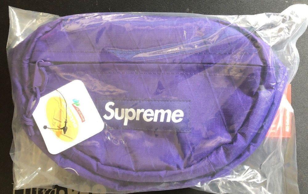 8f8474e2f2cf Supreme Logo Purple Waist Bag FW18 Receipt BOGO Sticker (ACS ...