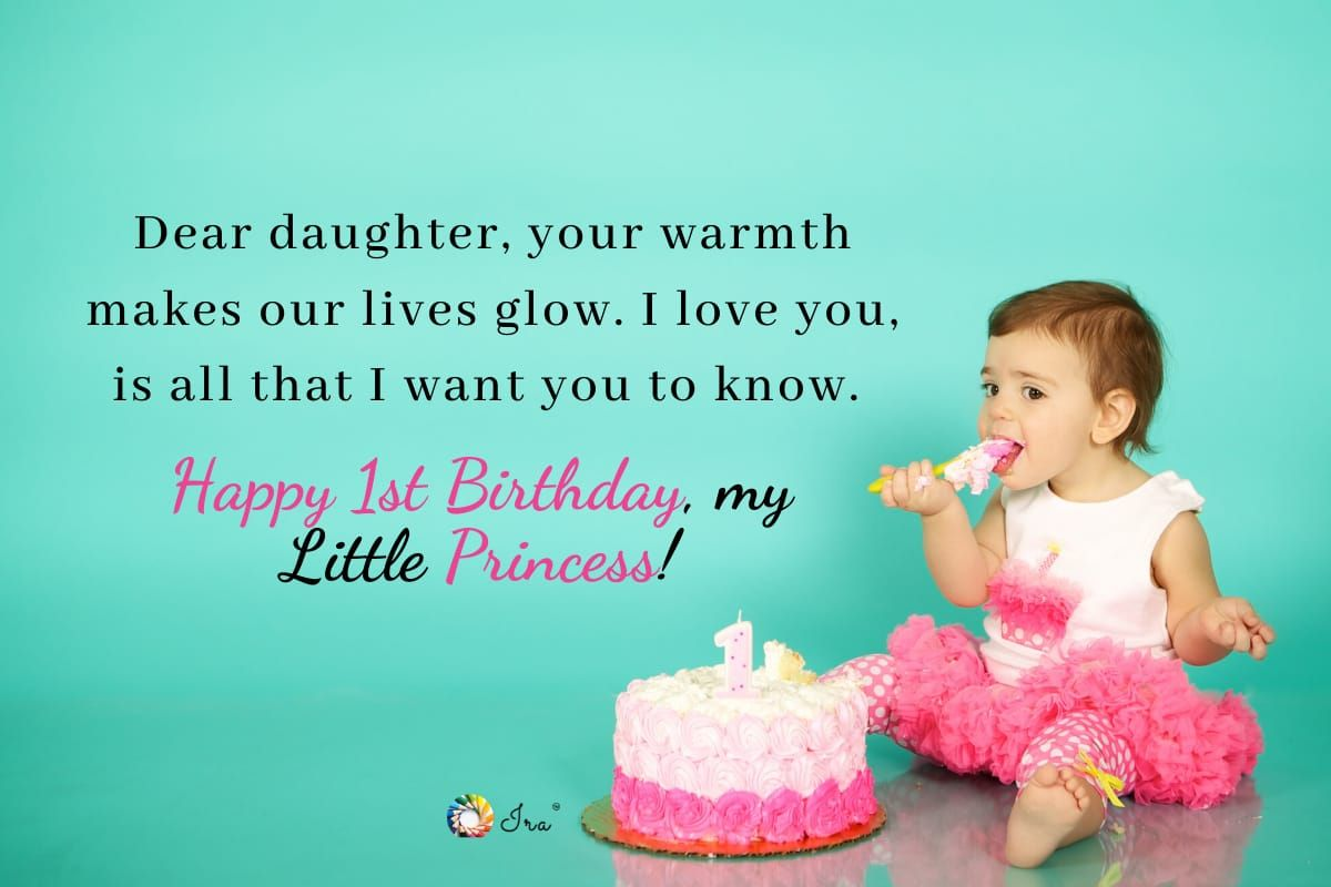 1st Birthday Wishes For Baby Girl Ira Parenting 1st Birthday Wishes Birthday Wishes Wishes For Baby