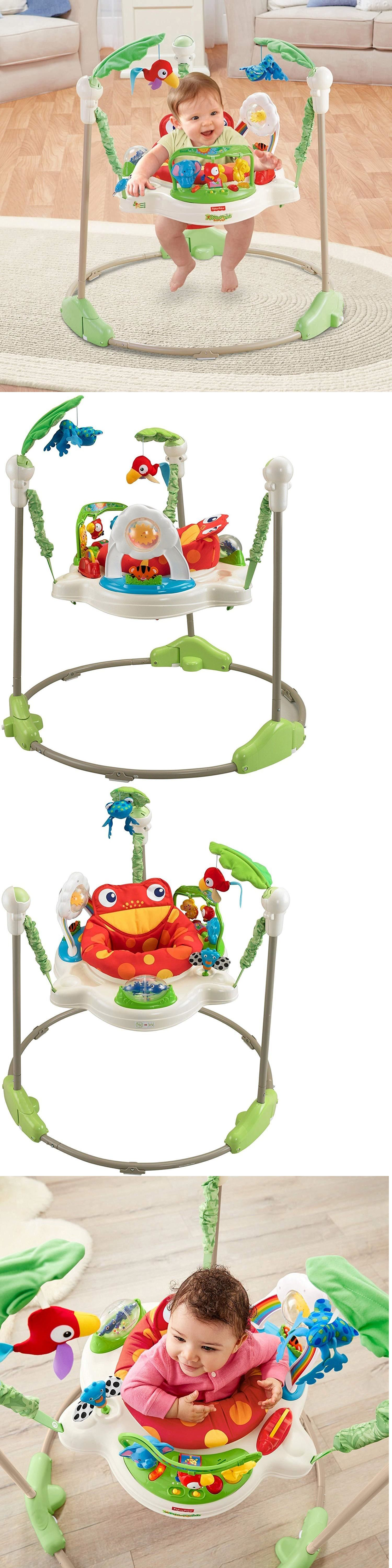 Baby Jumping Exercisers 117032 Fisher Price Rainforest Jumperoo Baby Jumper Walker Bouncer A Fisher Price Rainforest Jumperoo Baby Activity Jumper Baby Jumper