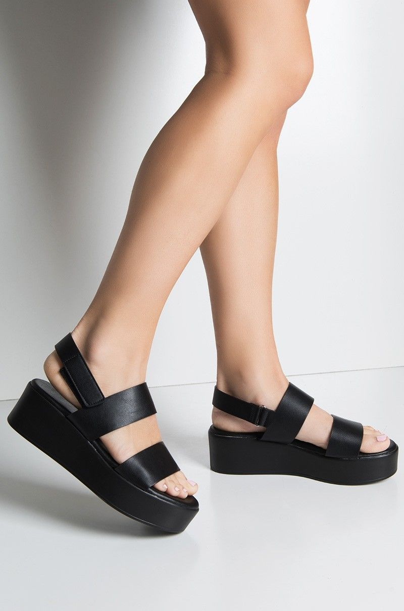 973adeaa0e2 Front View Cher Is That You Platform Sandal in Black | wish list ...