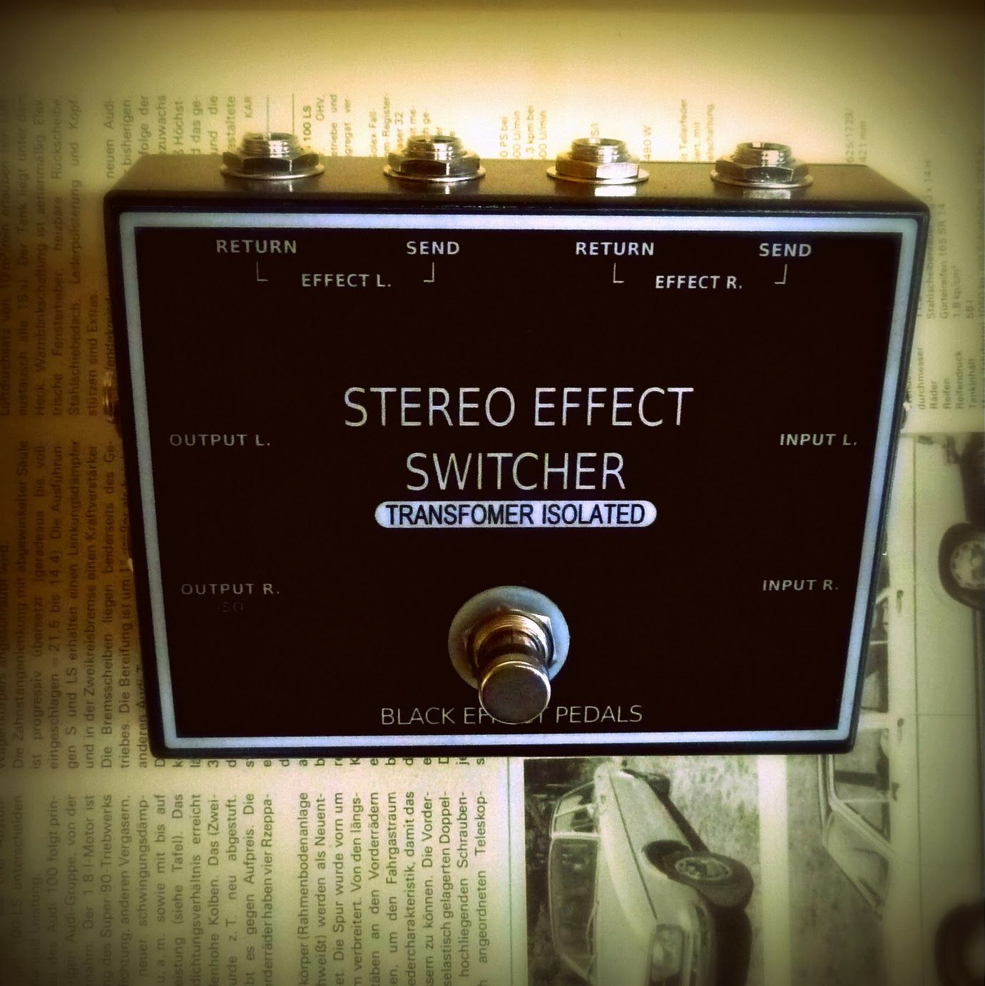 Black Effect Pedals Handmade Guitar Effects New Stereo Looper Pedal Wiring Diagram Loop Switcher With Optional Tra