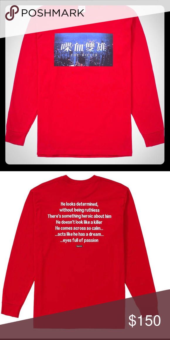 c6fd7231 Supreme The Killer Long Sleeve Shit Brand new! XL Proof of purchase!  Guaranteed authentic! Sold out everywhere! Supreme Tops Tees - Long Sleeve