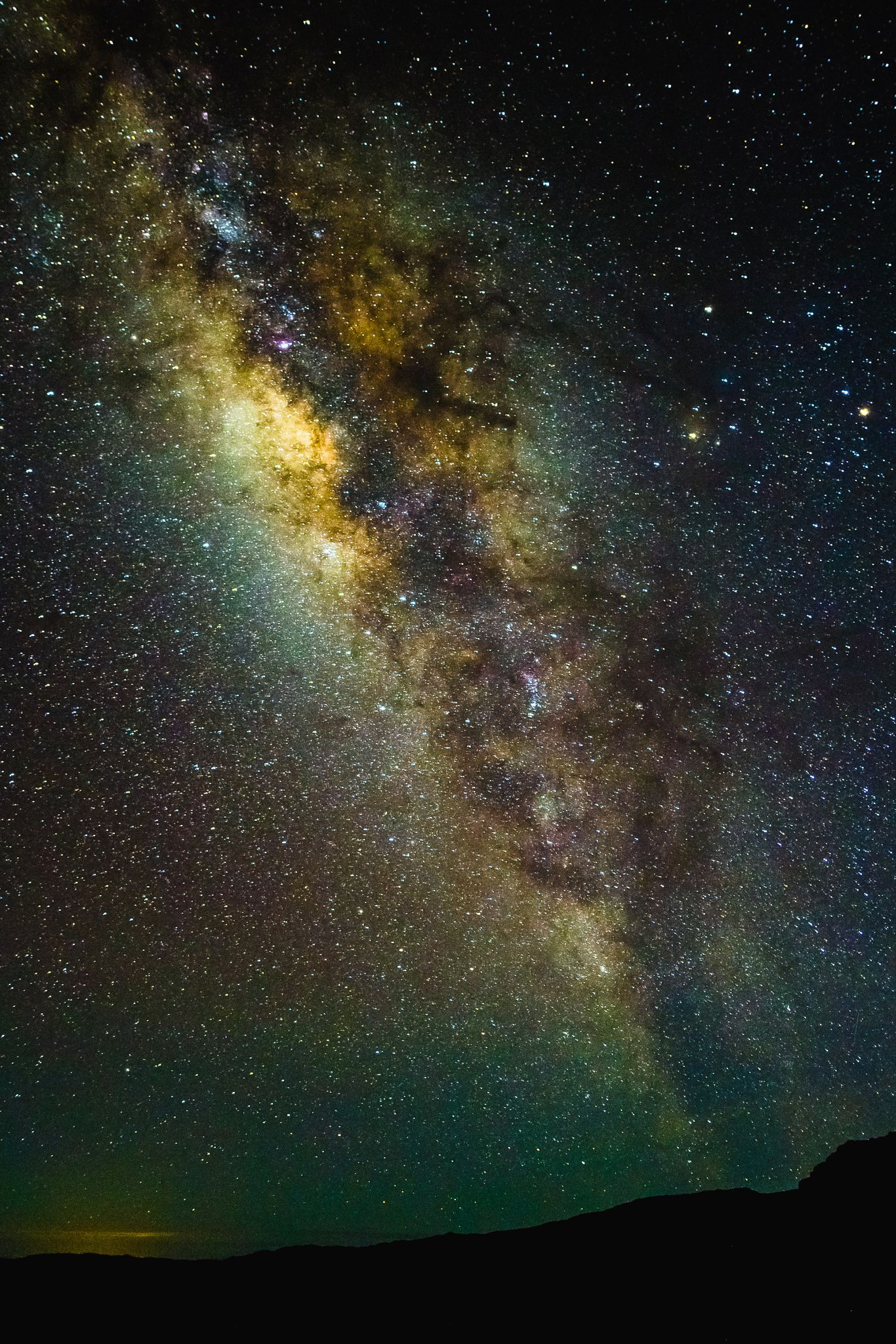 Milky Way Hawaii 7.8.16 #stars colors dark landscapes hawaii nigth milky way maui galaxy haleakala astronimy