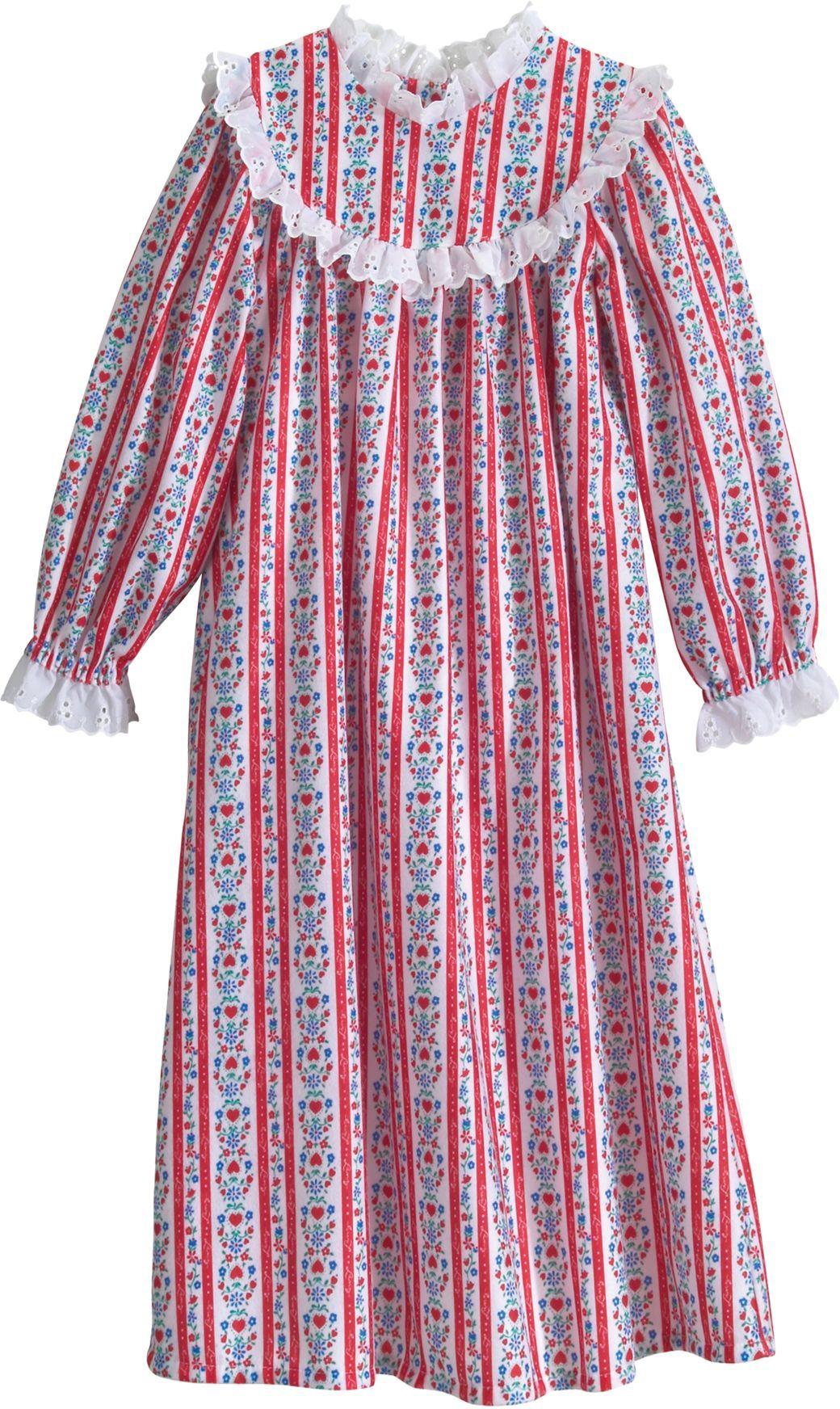 lanz of salzburg girls nightgown girls flannel christmas nightgown - Girls Christmas Nightgowns